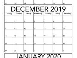 November 2019 To January 2020 Calendar Template Magic