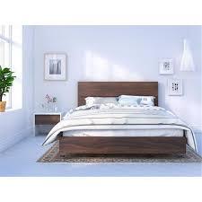 Nexera Identi-T 3 Piece Bedroom Set, White & Walnut - Walmart.com