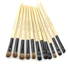 32 pcs professional makeup brush cosmetic beauty make up brush set black pouch bag leather case wood color 8886