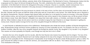 shakespear s portrayal of shylock in the merchant of venice essay  essay on shakespear s portrayal of shylock in the merchant of venice essay sample