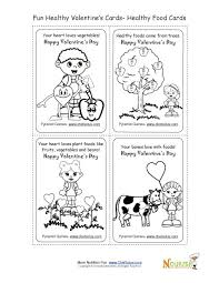Holiday 2 Healthy Foods Coloring Page Valentines Day Card