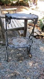vintage cast iron plant stand side