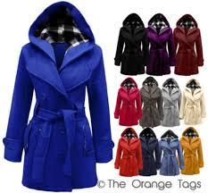 jacket belt on hooded trendy squares warm winter outfits las coat urban celebrity style winter coat blue black purple