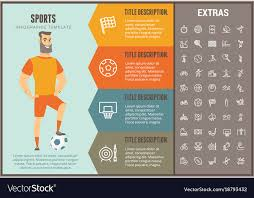 Sports Infographic Template Sports Infographic Template Elements And Icons Vector Image