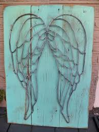angel wings wall decor angel wing wall decor rusty
