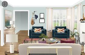 Create Living Room Designs Online Eclectic Bohemian Global Living Room Design By Havenly