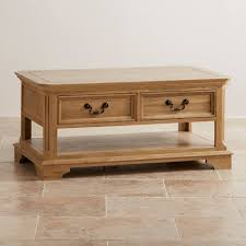 coffee table original rustic solid oak 4 drawer storage
