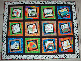 IslandLife Quilts: Grab a Kleenex and Let's Talk about Memory Quilts & Reading that story inspired me to share a few of the memory quilts I've  made with my kids. This quilt was about summer memories. Adamdwight.com