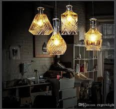 vintage engraved flower creative glass vase pendant lamp showcase restaurant bar bedroom cafe glass bottle chandelier pendant lampshades art glass pendant