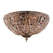 elk lighting elizabethan traditional flush mount ceiling light elk 5962 3 see details