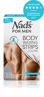 nad s for men hair removal body waxing strips