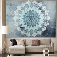 photo 1 of 11 indian hippie mandala tapestry elephant wall hanging bedspread