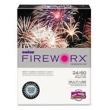 Details About Boise Fireworx Colored Paper 24 Lbs 8 5 X 11 Bottle Rocket Blue 500 Sheets Ream