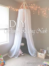 diy whimsy reading nook for kids playroom ideas
