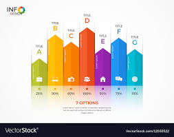 Column Chart Infographic Template 7 Options