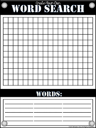 Create A Word Template Students Create A Word Search And Then Give It To Partner To Solve