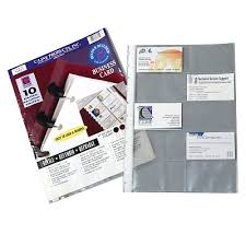 Binder Builder Business Card Holder Refill 71527 C Line Products
