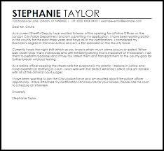Police Officer Sample Cover Letter Cover Letter Templates