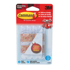 3m command mini hooks with water resistant strips package 6 each