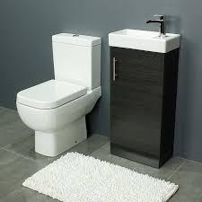 Sink And Toilet Combo Rak Series 600 Toilet And 400 Series Black Ash Vanity Unit