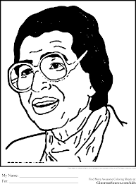 Black History Coloring Pages Rosa Parks