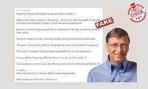 No, Bill Gates Did Not Say This About India And Its People
