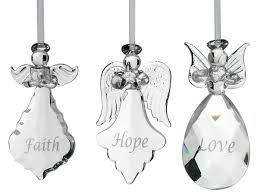 glass angel ornaments set of 3 ornament memorial glass gold and silver glittered angel ornaments