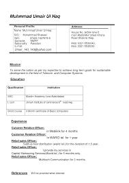 Cover Letter Doc Resume Format Resume Doc Format For It