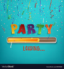 Party Template Party Loading Poster Template Royalty Free Vector Image