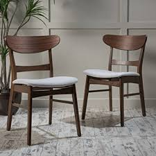 helen mid century modern dining chair set of 2 light beige w