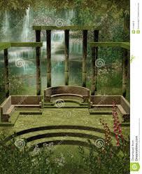 garden columns. Contemporary Garden Fantasy Garden With Columns And Garden Columns A