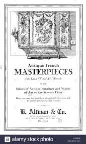 Furniture sale advertisement Bed Sheet Altman Co Antique French Furniture Sale Advertisement From 1926 International Studio Magazine Alamy Altman Co Antique French Furniture Sale Advertisement From 1926