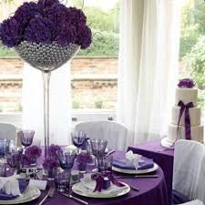 fetching images of purple table setting decoration design ideas engaging purple wedding ornament decoration using