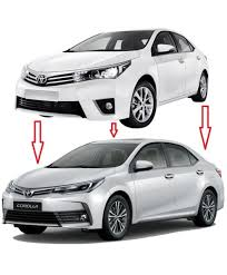 toyota corolla xli 2018. interesting corolla toyota corolla xli gli facelift conversion u2013 model 20142017 on toyota corolla xli 2018