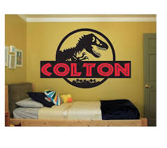 dinosaur name wall decal sticker large kids by coltonsplace on dinosaur bedroom wall stickers with dinosaur name wall decal sticker large kids bedroom big fun jurassic