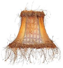 livex chandelier shade gold panel silk bell clip shade with corn silk fringe s1