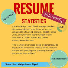 #Resume Statistics #CareerTip 20! Go check it out, some real stuff in