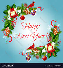 happy new year holiday frames vector image