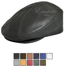 classic pebbled leather ivy driver cap black