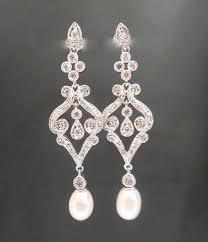 pearl bridal earrings crystal wedding earrings long earring bridal jewelry cubic zirconia earrings chandelier earrings pearl earrings