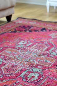 Pink + navy rug.