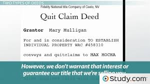Quit Claim Deed Form Impressive What Is Voluntary Property Transfer Defining Title By Deed
