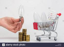 Led Stack Light Bulbs In The Grocery Cart Are Led And Energy Saving Light Bulbs