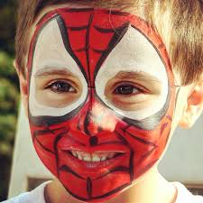 Face Painting Superheroes Design Easy Superhero Face Painting Ideas Arte Inspire