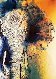 colorful elephant drawings. Contemporary Colorful Drawing Elephant Colorful Color Painted Painting On Colorful Elephant Drawings E