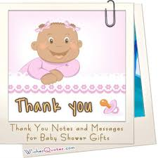 Baby Gift Thank You Note Sample Thank You Notes And Messages For Baby Shower Gifts