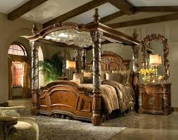 Wood Canopy Bed King Magnificent Wooden Canopy Bed With Best Canopy ...