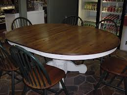 54 solid oak round table w 2 leaves