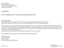 Letter Format For Vacation Leave Certification Letter For Vacation Leave Approval Lettering