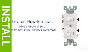 leviton presents how to install a combination device with a single pole and a three way switch